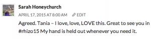 blog comment sarah