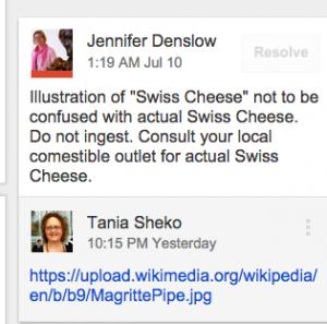 swiss cheese note